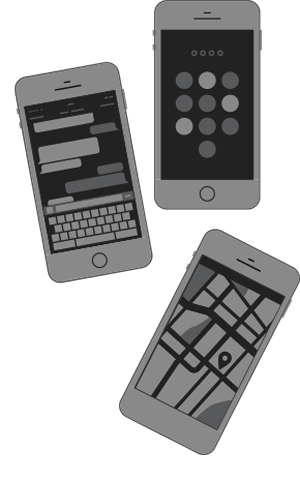Website design for mobile phones